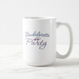 pink heart bachelorette party bridal shower mugs
