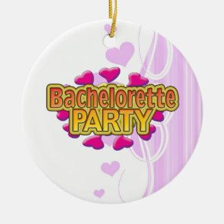 pink heart bachelorette party crazy neon wild fun christmas tree ornament