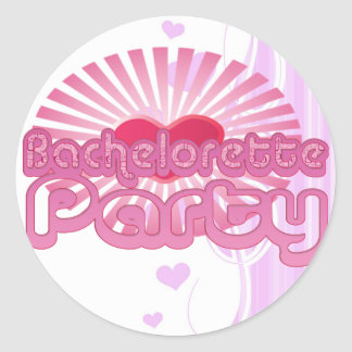 pink heart bachelorette party cute bridal stickers