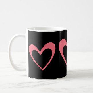 Pink Heart Basic White Mug