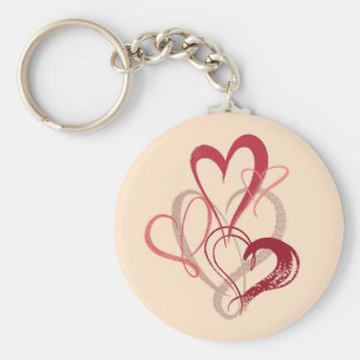 Pink Heart Bouquet Valentine's Day Keychain
