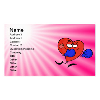 Pink Heart Boxing Pack Of Standard Business Cards
