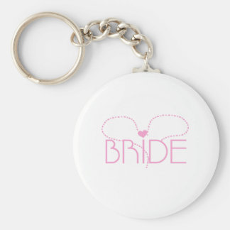 Pink Heart Bride Key Chains