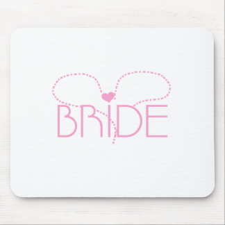 Pink Heart Bride Mouse Pad