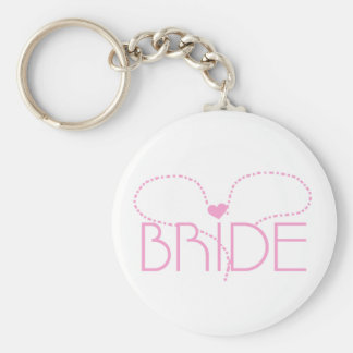 Pink Heart Bride T-shirts and Gifts Keychains