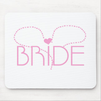 Pink Heart Bride T-shirts and Gifts Mouse Pad