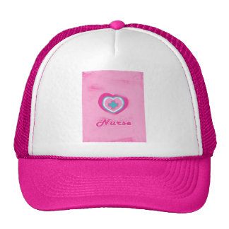 Pink Heart & Cross- Nurse Cap