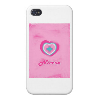 Pink Heart & Cross- Nurse iPhone 4/4S Cases
