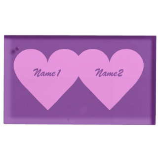 Pink Heart custom table card holder