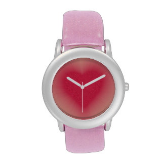 Pink heart custom watch