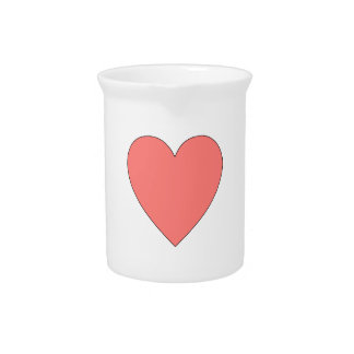 Pink Heart Customizable Drink Pitchers