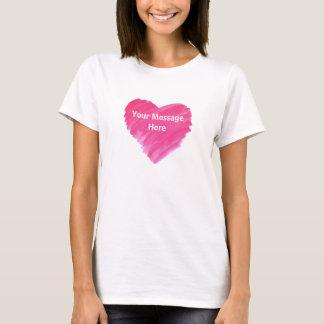 Pink Heart - Customize T-Shirt