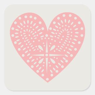 Pink Heart Cutout Sticker