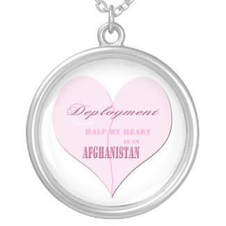 Pink Heart Deployment Afghanistan Necklace