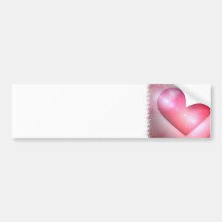 Pink Heart Design Bumper Sticker