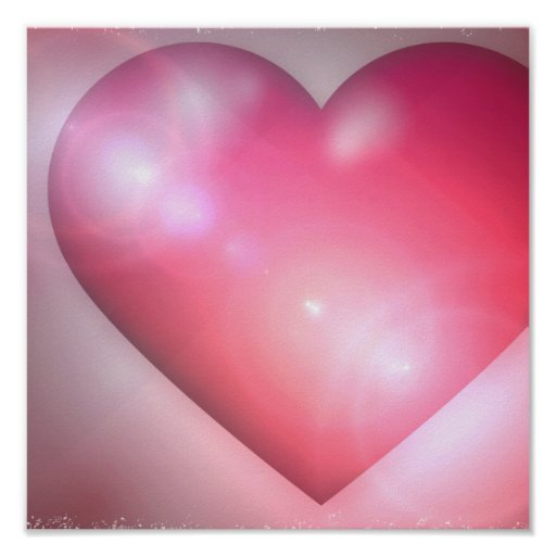 Pink Heart Design Invitation Posters