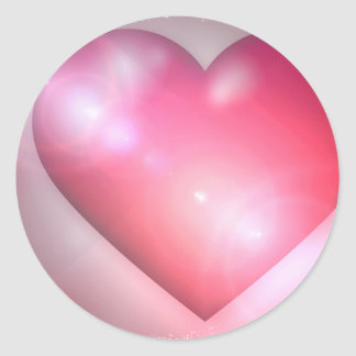 Pink Heart Design Sticker