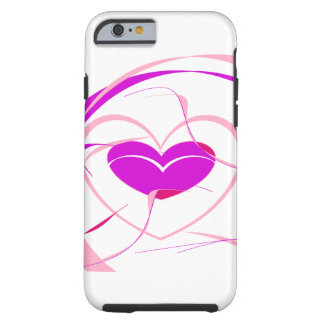 Pink Heart Design Tough iPhone 6 Case
