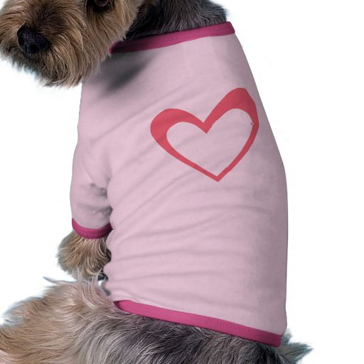 Pink Heart Dog Tshirt