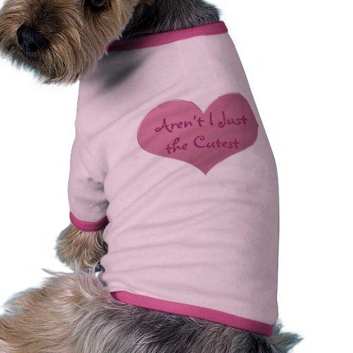 Pink Heart Dog Tee