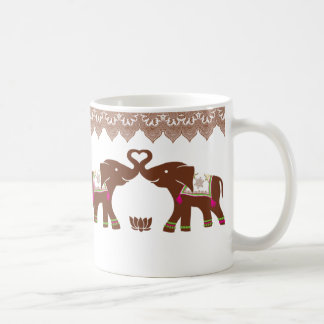Pink Heart Elephants Mug