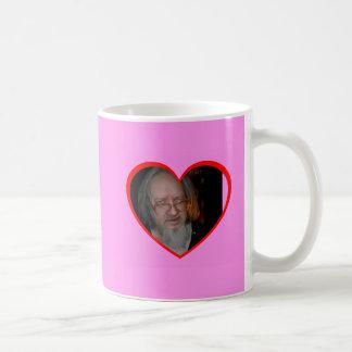 Pink Heart Frames Mug. Customize Me! Basic White Mug