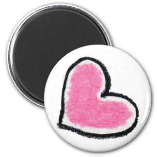 Pink Heart Fridge Magnets