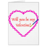 Pink Heart Greeting Cards