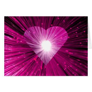 Pink  Heart greetings card