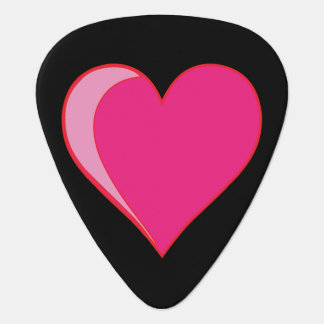 Pink Heart Guitar Pick