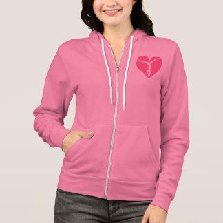 Pink Heart Gymnast Hoodie
