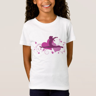 Pink Heart Gymnastics Leap T-Shirt