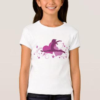 Pink Heart Gymnastics Leap Tee Shirt