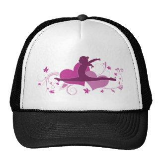 Pink Heart Gymnastics Leap Trucker Hat