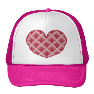 Pink Heart Hat