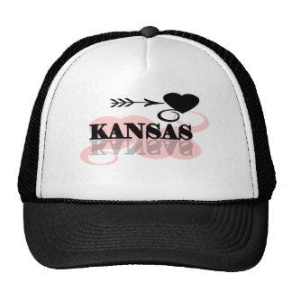 Pink Heart Kansas Mesh Hats