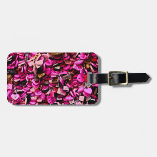 Pink Heart Locks Luggage Tag