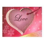 Pink heart love letter