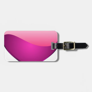 Pink Heart Luggage Tag