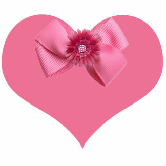 Pink Heart Magnet Photo Cutouts
