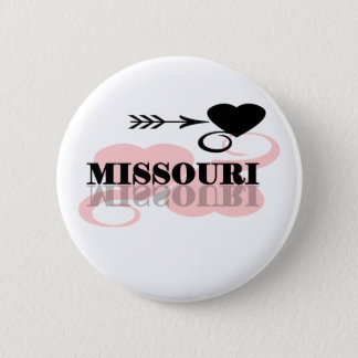 Pink Heart Missouri 6 Cm Round Badge