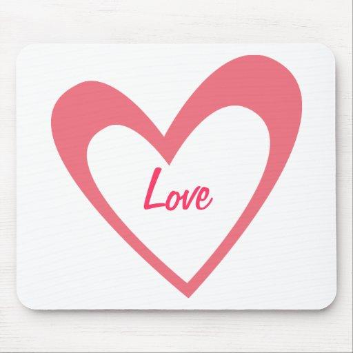 Pink Heart Mousepads