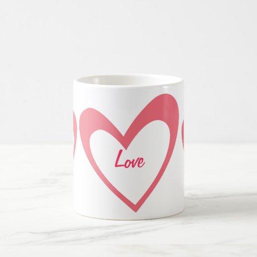 Pink Heart Mugs