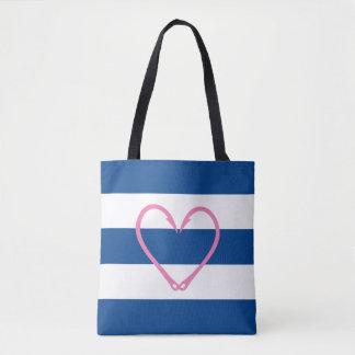 PINK HEART NAUTICAL BAG