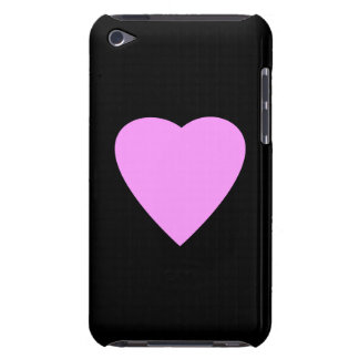 Pink Heart on Black. iPod Touch Case