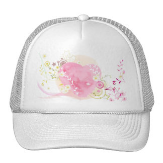 Pink heart p�le of St-Valentine - Mesh Hats