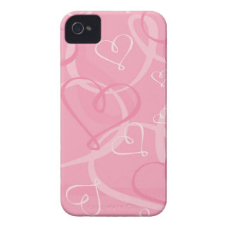 Pink heart pattern Case-Mate iPhone 4 case