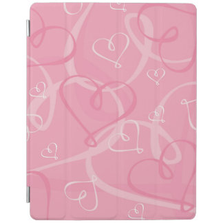 Pink heart pattern iPad cover