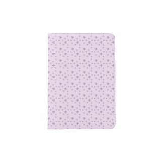 Pink Heart Pattern Passport Holder