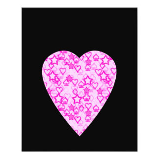 Pink Heart. Patterned Heart Design. Flyers